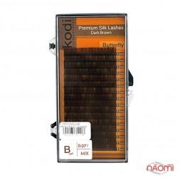 Ресницы Kodi professional B 0.07 (16 рядов: 12-13 мм), темно-коричневые