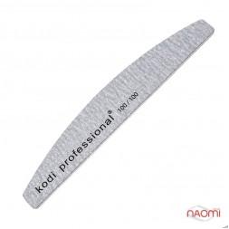 Пилка для ногтей Kodi Professional 100/100 Half Grey, полукруг