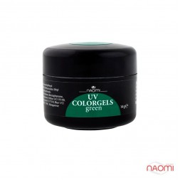 Гель Naomi камуфляжный UV Colorgels Green зеленый, 14 г
