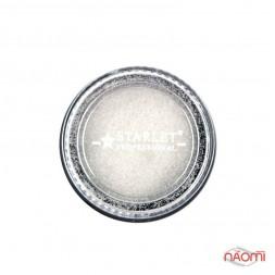 Блискітки імпреза Starlet Professional, з пісочним ефектом, в баночці, колір білий