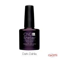 CND Shellac Dark Dahlia фіолетово-бордовий, 7,3 мл