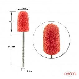 Насадка для педикюра Композит, колпак красный 10мм (R 90)