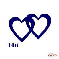Трафарет для временного тату Сердца №100 6х6 см