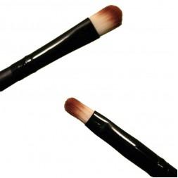 Кисть для макияжа PARISA Р25, для теней двойная, синтетика