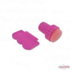Набір для стемпінга Stamping Nail Art (печатка), штамп і скрапер