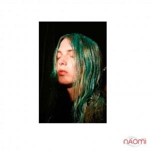 Окрашивающий спрей для волос, цвет зеленые блестки, 125 мл