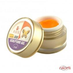 Гель-пластилин F.O.X № 008 оранжевый, 5 мл