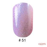 Гель-лак G.La color 051 лилово-розовый с переливающимися блестками, 10 мл