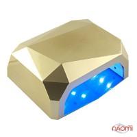 УФ LED лампа светодиодная сенсорная Sun 36 Вт, таймер 10, 30 и 60 сек, цвет золото