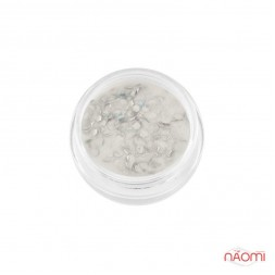 Акриловая пудра My Nail № 037, цвет белый с серебристой чешуей, 2 г
