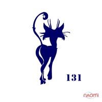 Трафарет для временного тату Кошечки №131 6х6 см