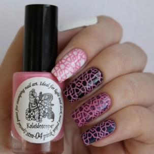 Краска для стемпинга EL Corazon - Kaleidoscope № st-04 pink/розовый 15 мл