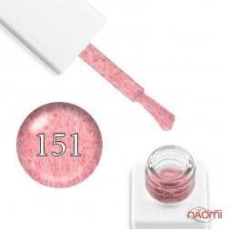 Гель-лак мраморный Trendy Nails № 151 светло-коралловый, с коралловым флоком, 8 мл