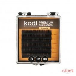 Ресницы Kodi professional Butterfly B 0.12 (6 рядов: 11,12,13 мм), черные