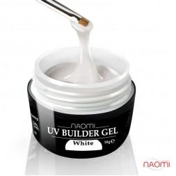 Гель Naomi строительный UV Builder White белый, 28 г