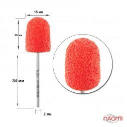 Насадка для педикюра Композит, колпак красный 15 мм (R 127)