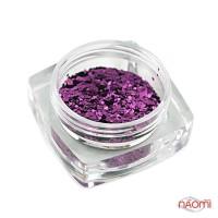 Декор для ногтей Salon Professional Чешуя, цвет фиолетовый, мелкая