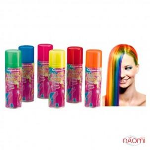 Окрашивающий спрей для волос, цвет голубые блестки, 125 мл