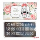 Пластина для стемпинга MoYou London серии Flower Power Collection 01 Ажур, цветы, фото 2, 225.00 грн.