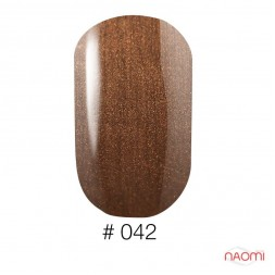 Лак Naomi 042 коричневий перламутровий, 12 мл