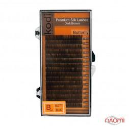 Вії Kodi professional B 0.07 (16 рядів: 10-11 мм), темно-коричневі