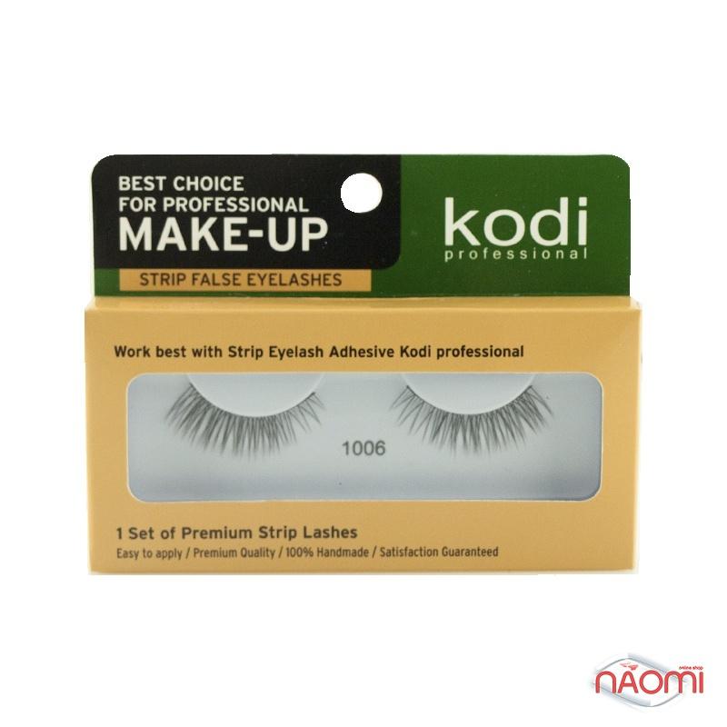 Вії накладні Kodi Professional № 1006, на стрічці, чорні, фото 1, 70.00 грн.
