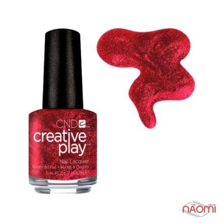 Лак CND Creative Play 415 Crimson Like It Hot, красный, 13,6 мл, фото 1, 119.00 грн.