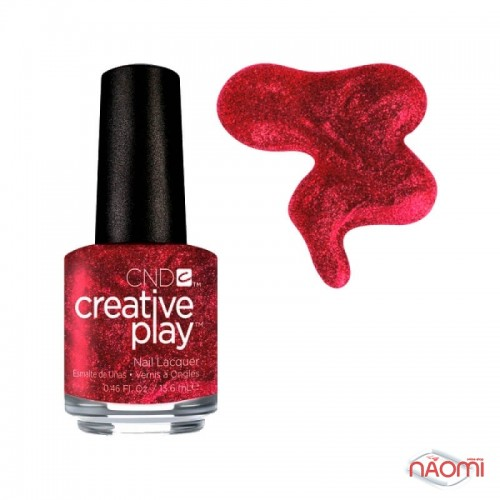 Лак CND Creative Play 415 Crimson Like It Hot, червоний, 13,6 мл, фото 1, 129.00 грн.