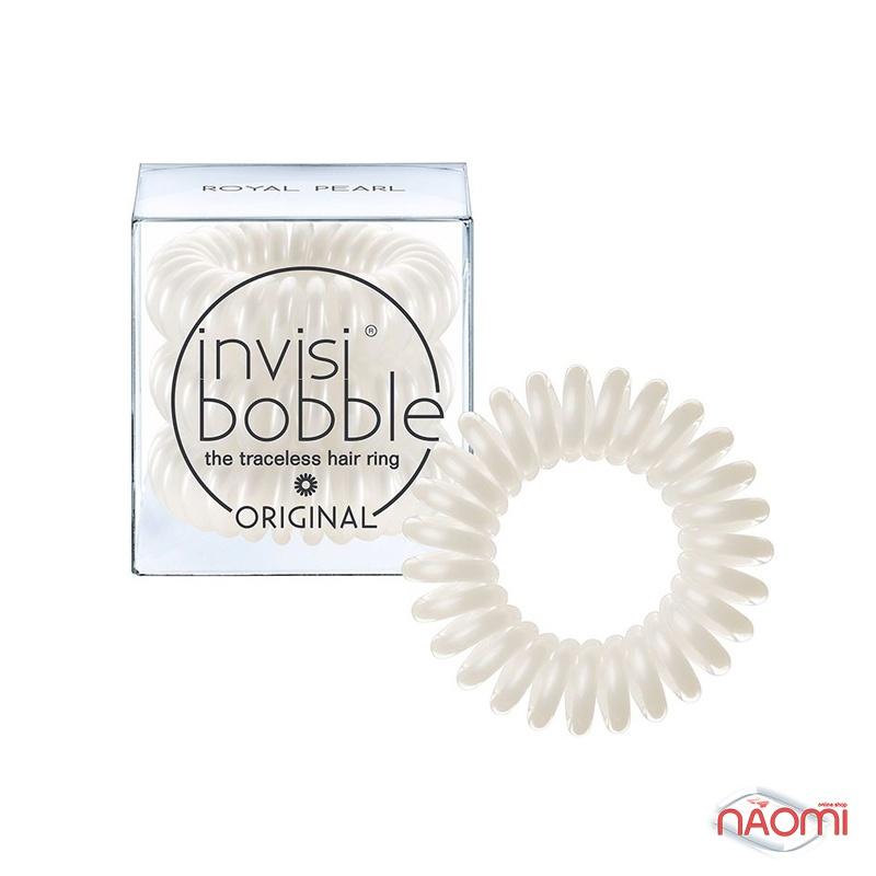 Резинка-браслет для волос Invisibobble ORIGINAL Royal Pearl, цвет жемчужный, 30х16 мм, 3шт., фото 1, 99.00 грн.