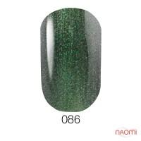 Гель-лак GO 086 серо-зеленый, с шиммерами и эффектом хамелеон, 5,8 мл
