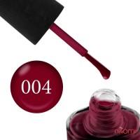 Лак NUB 004 Lady Vamp темный бордовый, 14 мл