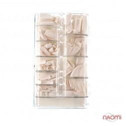 Типсы Ez Flow для наращивания ногтей, 500 шт., белые