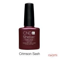 CND Shellac Crimson Sash вишневый, 7,3 мл
