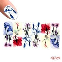 Слайдер-дизайн 1291 Цветы, акварель