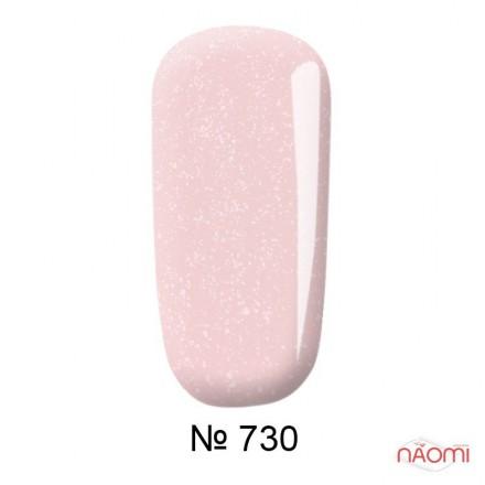 Гель-лак F.O.X French 730 мягкий розовый с переливающимися шиммерами, 12 мл, фото 1, 145.00 грн.