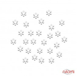 Декор для нігтів сніжинки, колір білий