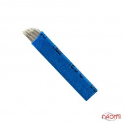 Игла для микроблейдинга 17 контактов 0,25 мм, синяя