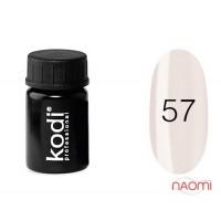 Гель-фарба Kodi Professional 57, колір рожева пастель, 4 мл