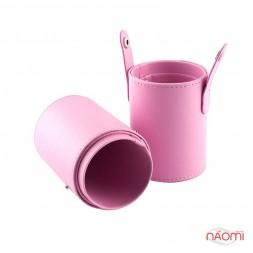 Тубус для кистей, цвет розовый