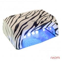 УФ LED+CCFL лампа для гель-лаков и геля 36W, с таймером 10, 30 и 60 сек., зебра