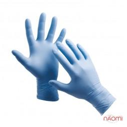 Перчатки нитриловые упаковка - 5 пар, размер M (без пудры) синие