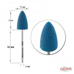 Насадка для педикюра Композит, пуля болшая синяя 11 мм, конусная (B 100 B)