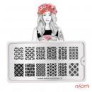Пластина для стемпинга MoYou London серии Flower Power Collection 10 Цветы, клетки, фото 2, 225.00 грн.