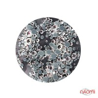 Стразы Starlet Professional, ss2-ss20, цвет серебро, 720 шт.