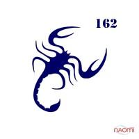 Трафарет для временного тату Скорпион №162 6х6 см