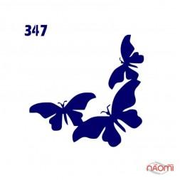 Трафарет для временного тату Креативные и стильные №347 6х6 см