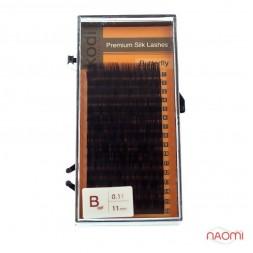 Ресницы Kodi professional Butterfly B 0.10 (16 рядов: 11 мм), черные