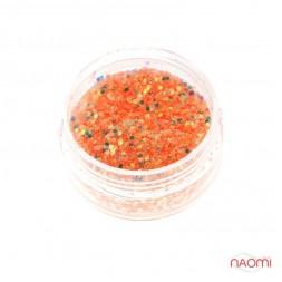 Декор для ногтей в баночке Starlet Professional (а) Песок и чешуя, цвет оранжевый