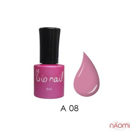 Гель лак BioNail A 008 Violet Pink фиолетово-розовый с перламутром, 8 мл, фото 1, 194.00 грн.