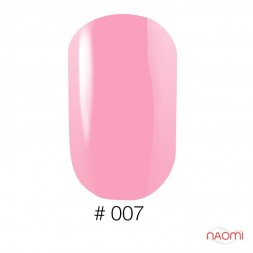 Лак Naomi 007 пастельно-рожевий напівпрозорий, 12 мл
